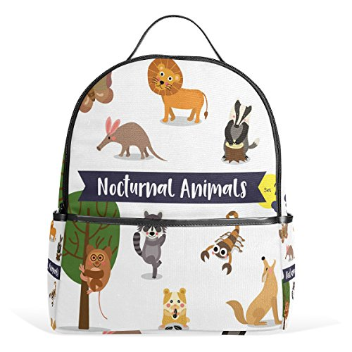 Rucksack Ahomy for and Coyote Bags Lion Aardvark Sports Scorpion Book for Owl Hamster Moth Backpack Girls Travel Casual School Daypacks BxrvpBq