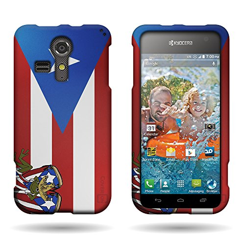 - [ Kyocera Hydro Vibe / C6725 ] by CoverON Faceplate for Kyocera Hydro Vibe Hard Case Cover - Puerto Rico Flag