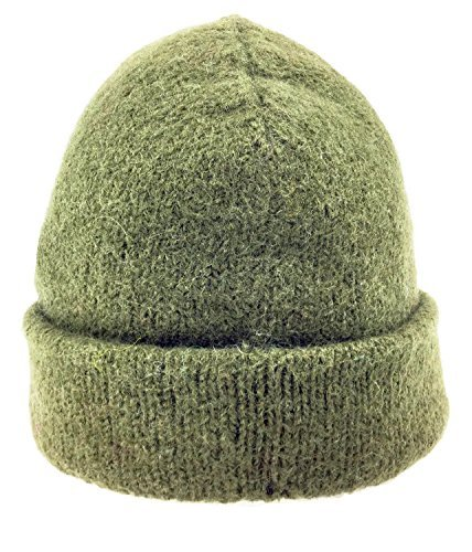 - Dachstein Woolwear Alpine Kamgarn Worsted Wool Cap (One Size, Military)
