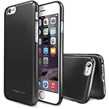 "iPhone 6 Case, Ringke [SLIM] Snug-Fit Slender [Tailored Cutouts][1 FREE HD Screen Protector][GUNMETAL] Lightweight & Thin Scratch Resistant Coating Protective Cover for Apple iPhone 6 4.7"" (2014)"