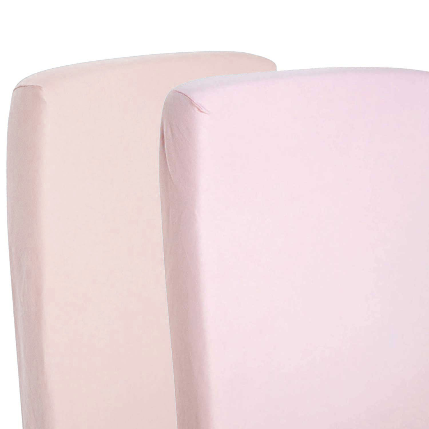 2x Fitted Sheets Compatible With Snuzpod Bedside Crib 100% Cotton - Pink-By For-Your-Little-One