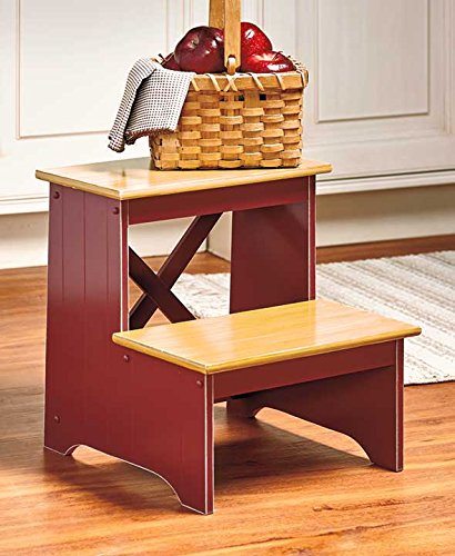 The Lakeside Collection Beadboard Country Step Stools (Red)