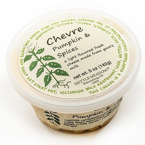Pumpkin and Spice Chevre by Nettle Meadow (5 ounce)