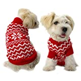 Make you perfect Dog Clothes Christmas Snowflake Sweater Pet clothes Dog Suit Sweater Knit Clothes