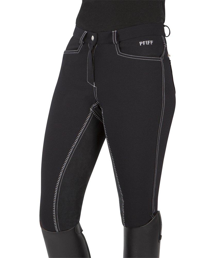 Pfiff - Pantaloni da equitazione da donna Terry, senza cuciture, Nero (nero), 46 101485-60-46
