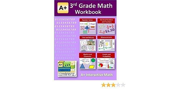 3rd Grade Math Workbook (Printed B&W Plasti-coil bound) (130 ...