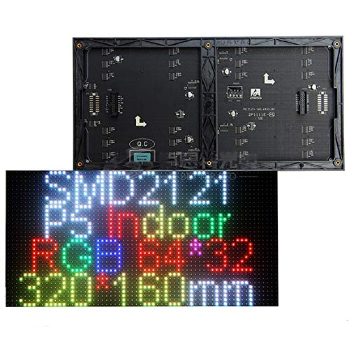 - Pixels Pitch 5mm, P5 Indoor led Matrix Module Panel, Full Color, SMD2121, 64x32 dots, 320x160mm (Full Color, 320160mm)