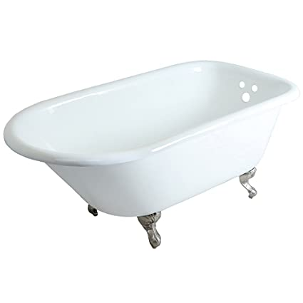clawfoot baby bath tub. KINGSTON BRASS VCT3D603019NT8 60 Inch Cast Iron Roll Top Claw Foot Tub with  3