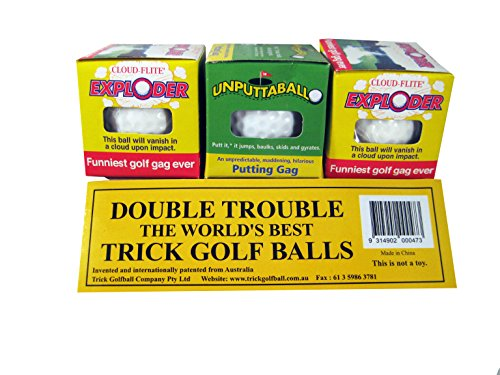 Trick Exploding Unputtable Golf Ball