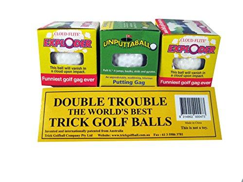 Trick Exploding & Unputtable Golf Ball 3 Pack (Exploder Ball Golf)
