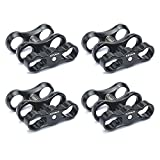 4 PCS x 1'' Inch Standard Ball Clamp for the 1'' Ball Underwater Light Arm System