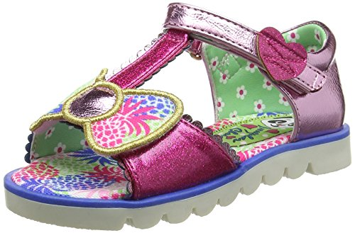 Irregular Choice Girl's Kids Baby Bow Bell Pink Open Toe Sandal Childrens Shoe Pink Uk 2.5 - Eu 35 - Us 3.5 by Irregular Choice