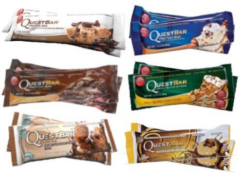Quête Bar Chocolate Lovers Bundle- paquet de 12 (2 de chaque)