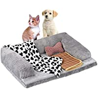 Petacc Bed Plush Sofa-Style Couch Pet Bed