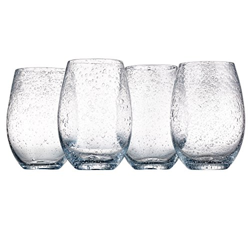 Artland Iris Stemless Glasses, Clear, Set of 4 (Shot Personalized Plastic Glasses)