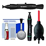Sony LensPen Camera Lens Cleaner with Rocket-Air Blower + Cleaning Kit for Alpha A58, A68, A77 II, A99, A7, A7R, A7S, A5100, A6000, A6300 Cameras