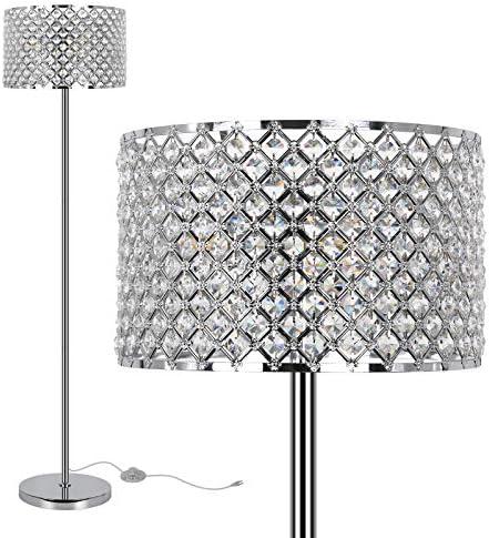 Elegant Crystal Floor Lamp