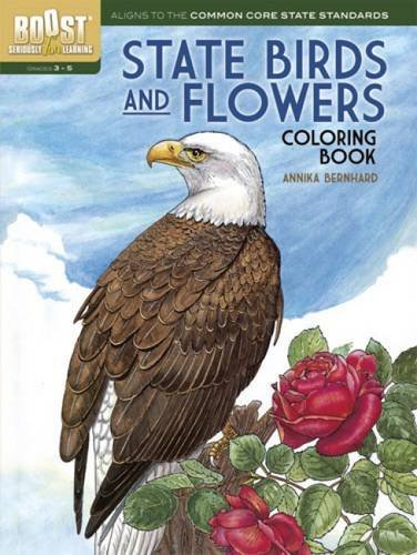 BOOST State Birds and Flowers Coloring Book (BOOST Educational Series) (Flowers And State Birds)