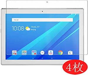 "【4 Pack】 Synvy Screen Protector for Lenovo Tab 4 10 TB-X304 10.1"" Tab4 TPU Flexible HD Clear Case-Friendly Film Protective Protectors [Not Tempered Glass] New Version"