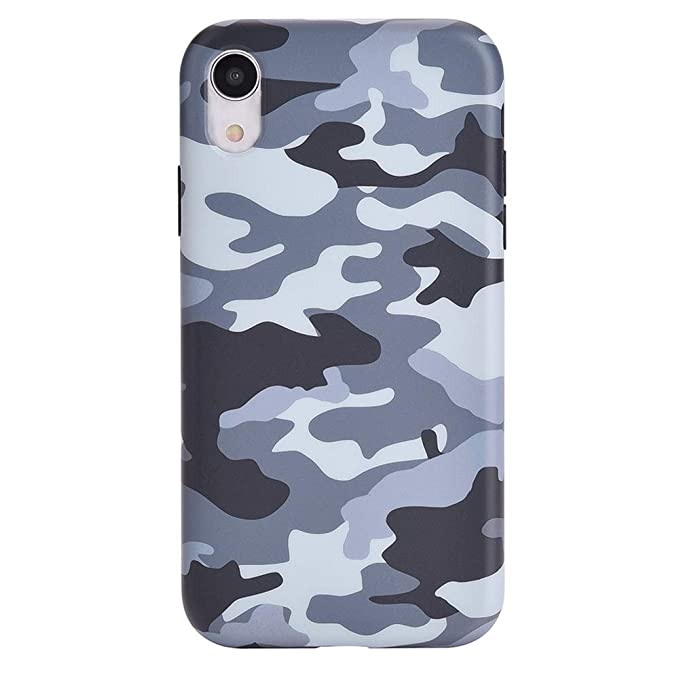 los angeles 9cf92 63bd3 Gray Black Camo iPhone XR Case - Premium Protective Cover - Cool Phone  Cases for Girls & Men [Drop Test Certified]