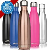 Sporting Goods : Modern Innovations 17oz Double Wall Vacuum Insulated Stainless Steel Water Bottle Leak Proof Keeps Drinks Hot and Cold for Outdoor Sports Camping Hiking Cycling,Copper,1-Pack