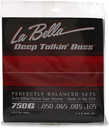 La Bella 750G Gold White Nylon Tapewound Bass Strings - ()