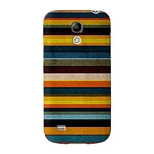 Colorful diseño de rayas amarillas, y azules Full Wrap Case Impreso en 3d gran calidad, Snap-on Cover para Samsung Galaxy S4Mini de UltraCases