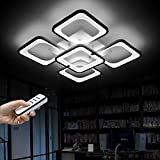 Boutiquechandeliercreativechandelier,Modern Acrylic Led Ceiling Lights Lighting Fixtures 5 Lights Lighting Fixtures With Remote Control Dimmable Chandeliers Light Chanderlier Lighting FixtureChandelier