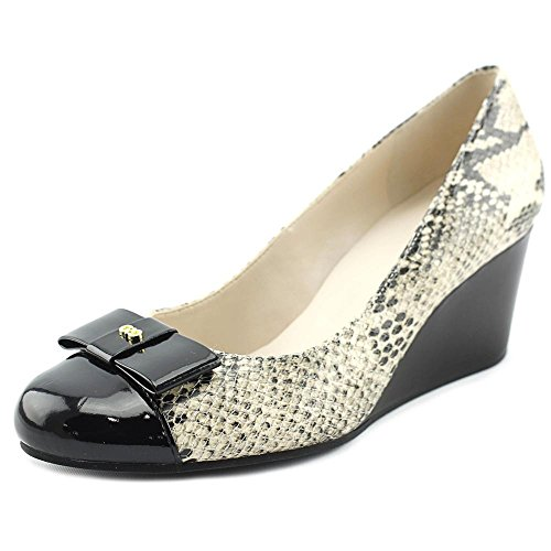 Cole Haan Womens Elsie Bow Wedge 65mm II Roccia Snake Print/black Patent ofD7Pq