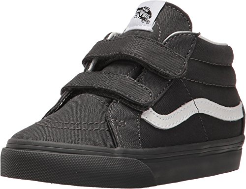 Vans Infant/Toddlers Shoes SK8-Mid Reissue Velcro (Mono) Gray Fashion Sneakers (5 Toddler M) - Baby Sneakers Vans