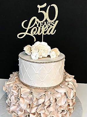 Decoración para tarta de cumpleaños de 50 años con texto en ...