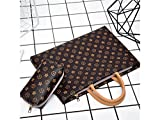 Wesource Outdoor Bags 15 Inch Women Girl PU Leather Tablet Laptop Bag Handbag Inner Bag with Power Pack Good Protecter