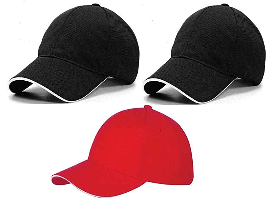 92c1299f618d Online Quality Store Men s and Women s Cotton Cap (Black)  Amazon.in   Clothing   Accessories