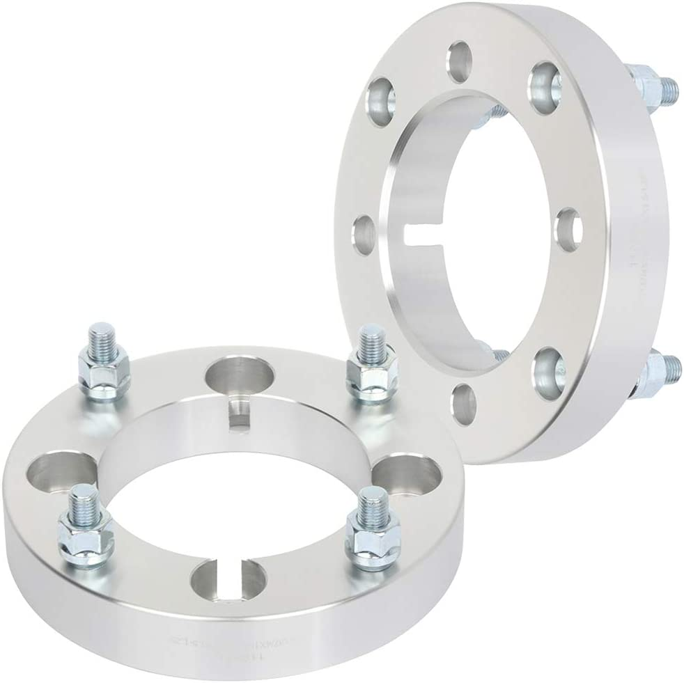 SCITOO 4x137 to 4x156 12x1.5 110 1.25 Wheel Spacers silver fits for 2003-2005 Bombardier Outlander 330 2007-2008 Can-Am Renegade 800