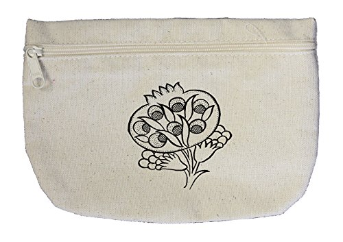 One Tulip Canvas (Color Your Color-In Tulip Flowers #1 Canvas Pouch with Zipper, Makeup Bag)