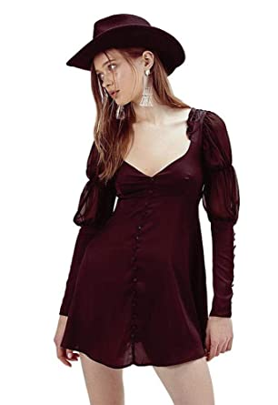 874e5c53480 Amazon.com  for Love and Lemons Priscilla Long Sleeve Dress Black ...