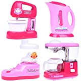 Home Mini Appliances Kitchen Kettle Pot Coffee Maker Mixer Juicer Set Batteries Included