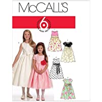 McCalls Patterns M5795 Size CHJ 7-8-10-12-14 Childrens/ Girls Lined Dresses and Sash, White by McCalls Patterns