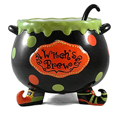 Witch's Brew Ceramic Halloween Punch Bowl