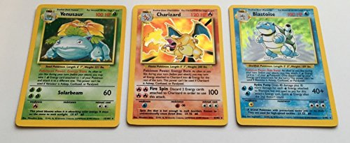 Pokemon - Charizard Venusaur and Blastoise Base Set Original Holographic Cards