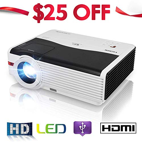 Home Projector LCD LED Video Projector 4200 Lumens with Free Dual HDMI Support 1080P USB, Home Cinema Theater Projector for TV Laptop iPad iPhone Smartphone Mac Laptop Blu-ray Player DVD Xbox PS3 PS4