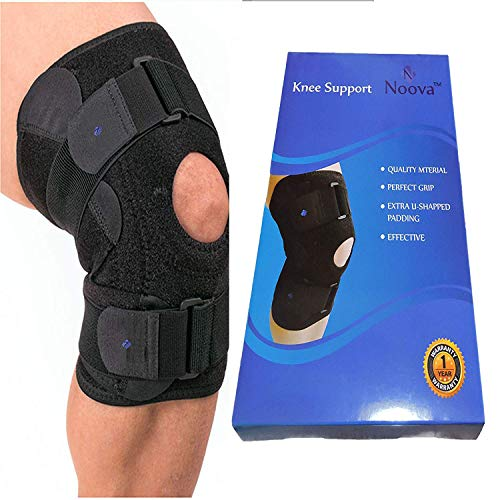 Noova Knee Brace For Meniscus Tear - Best Braces For Patella Support For Men & Women Open Patellar Tendon Strap For Stabilizing & Reducing Pain Due To Arthritis Running Gym Workout Crossfit or Sports -