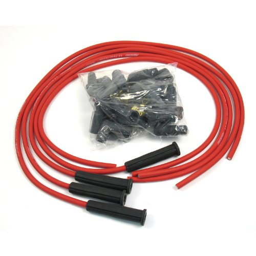 4 Cylinder Wire - Pertronix 804480 Flame-Thrower Red Universal 180 Degree 8mm 4 Cylinder Spark Plug Wire
