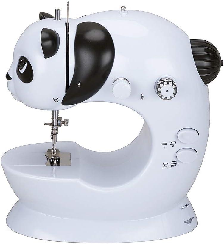 Mini máquina de coser Máquina de coser eléctrica portátil de doble ...
