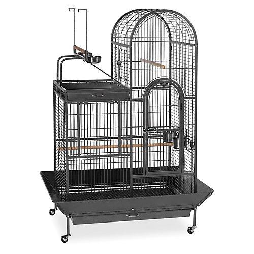 Parrot Corner Cage 45x30x69 Black