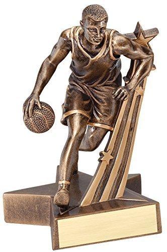 Male Basketball Resin - Male Basketball Gold Star Resin Trophy Award