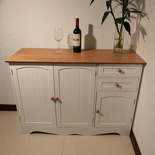 Homecharm-Intl 43.31×15.8×30.7 Inch Storage Cabinet,White