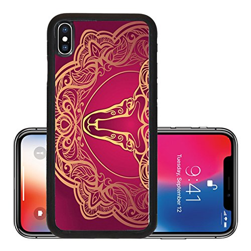 Liili Premium Apple Iphone X Aluminum Backplate Bumper Snap Case Golden Ram Horoscope Decorative Background Aries Photo 12062873