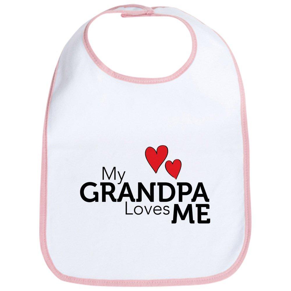 CafePress - My Grandpa Loves Me Bib - Cute Cloth Baby Bib, Toddler Bib