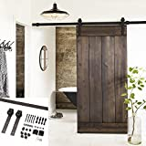 Erfect 6.6 FT Brown Basic Wood Barn Door - Best Reviews Guide